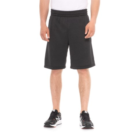 Urban Frontier French Terry Elastic Band Shorts (For Men) in Grey Stone
