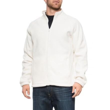 41824553 Urban Frontier Polar Fleece Jacket - Full Zip (For Men) in White - Closeouts