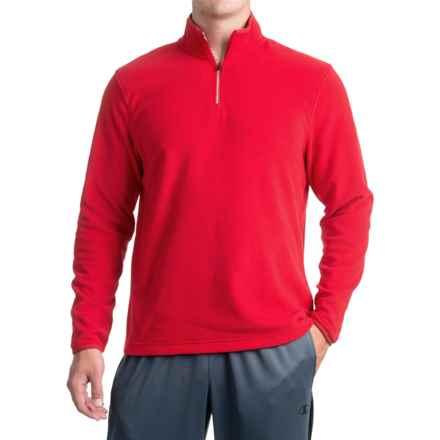 Urban Frontier Polar Fleece Sweatshirt - Zip Neck (For Men) in Red - Closeouts