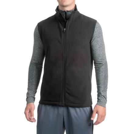 Urban Frontier Polar Fleece Vest - Full Zip (For Men) in Black - Closeouts