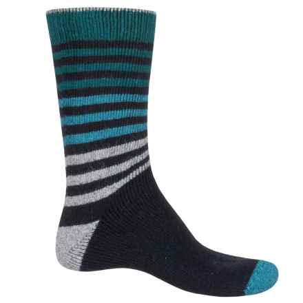 Urban Knits Ombre Stripe Socks - Wool Blend, Crew (For Men) in Blue Stripes - Closeouts