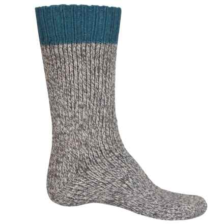 UrbanKnits Chunky Boot Socks - Wool Blend, Mid Calf (For Men) in Gray - Closeouts