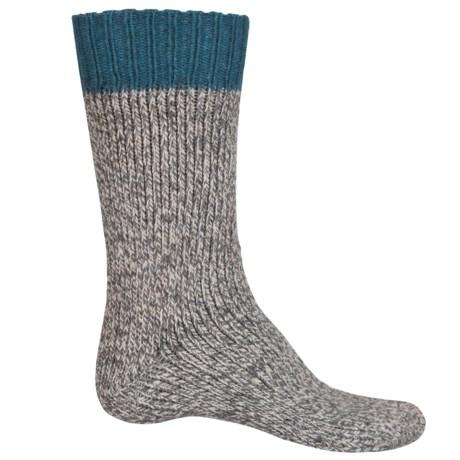 UrbanKnits Chunky Boot Socks - Wool Blend, Mid Calf (For Men)