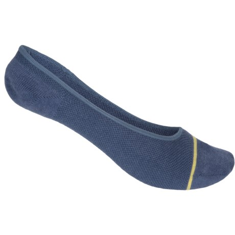 UrbanKnits Contrast Stripe Invisible Socks - Below the Ankle (For Women) in Navy