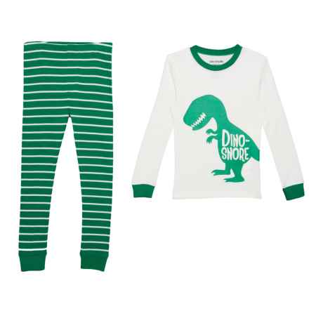 US Angels Dino Snore Pajamas - Long Sleeve (For Little Boys) in Dino-Snore - Closeouts