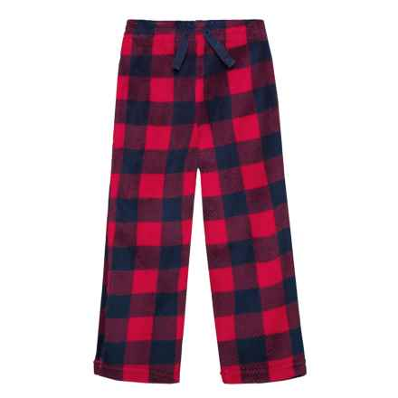 US Angels Plush Sleep Pants (For Little Boys) in Red Plaid - Closeouts
