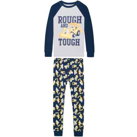 US Angels Rough and Tough Pajamas - Long Sleeve (For Little Boys) in Rough & Tough - Closeouts