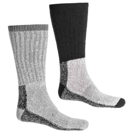 US Army Heavy-Duty Thermal Socks - 2-Pack, Over the Calf (For Men) in Black/Grey - Closeouts