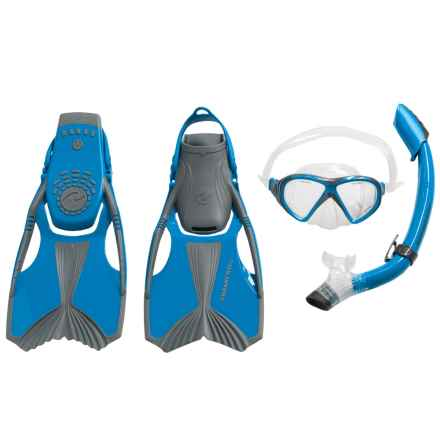 U.S. Divers Ace Jr. Snorkeling Set - 4-Piece (For Youth) in Neon Blue - Overstock