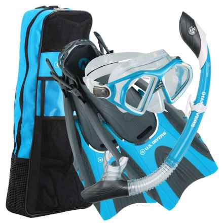 U.S. Divers Admiral Fin, Mask and Snorkel Set in Cobalt Blue - Overstock