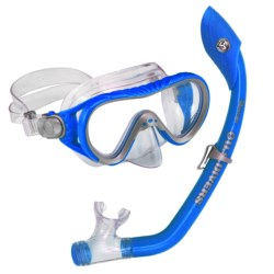 U.S. Divers Coral Mask Island Snorkel Set (For Kids) in Blue