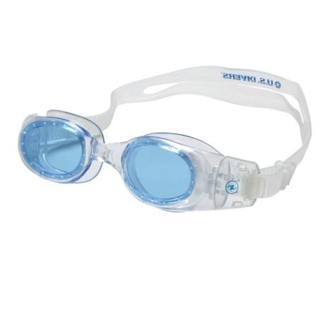 U.S. Divers Medley Jr. Swim Goggles (For Kids) in Clear/Aqua