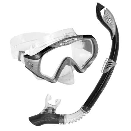 U.S. Divers Starbuck Mask and Paradise Dry Snorkel Set in Black - Overstock