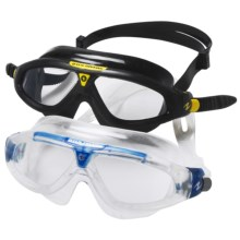 U.S. Divers Swim Mask - 2-Pack in Clear Blue/Clear Black Yellow/Clear - Closeouts