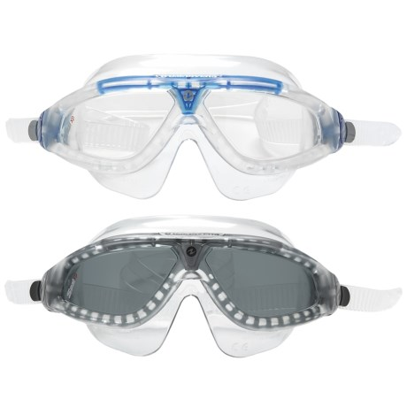 U.S. Divers Swim Mask - 2-Pack in Clear Blue/Clear Clear Charcoal/Grey
