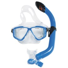 U.S. Divers Viewpoint Jr. LX Mask and Laguna Snorkel Combo (For Youth) in Sky Blue - Closeouts