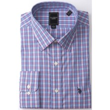 U.S. Polo Assn. Check Dress Shirt - Long Sleeve (For Men) in Navy/Blue/Pink - Closeouts
