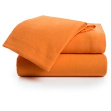 U.S. Polo Assn. Cotton Jersey Sheet Set - Full in Orange - Closeouts