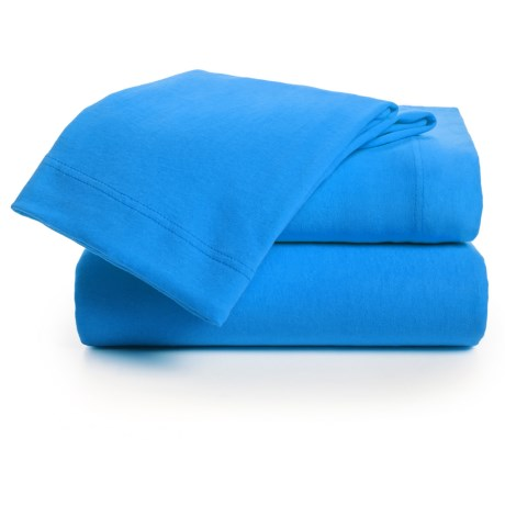 U.S. Polo Assn. Cotton Jersey Sheet Set - Twin in Aqua Sea