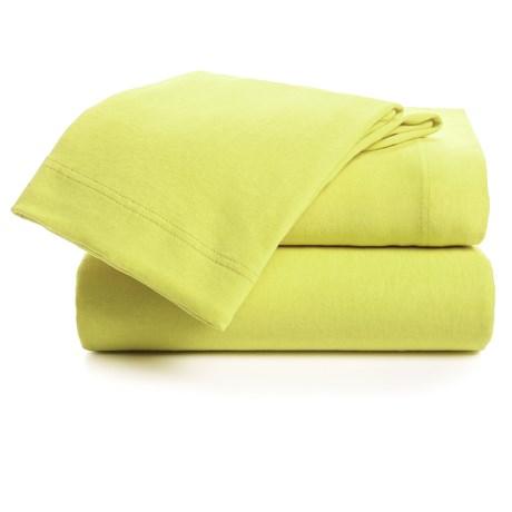 U.S. Polo Assn. Cotton Jersey Sheet Set - Twin in Key Lime