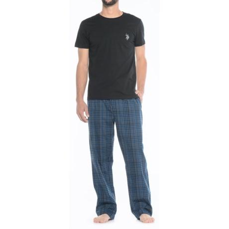 Image of U.S. Polo Assn. Cotton Pajamas - 2-Piece, Short Sleeve (For Men)