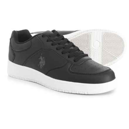 U.S. Polo Assn. Jayson Low Sneakers - Vegan Leather (For Men) in Black/White - Closeouts