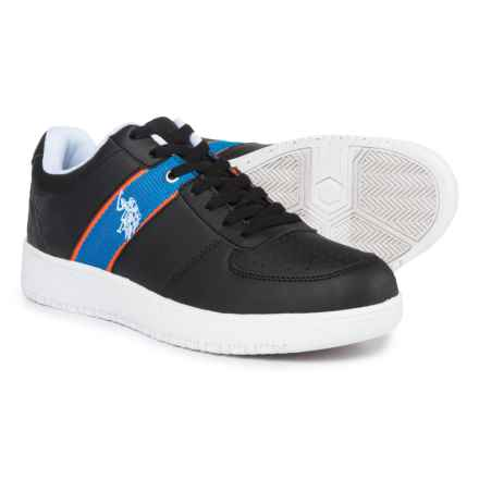 U.S. Polo Assn. Jet Sneakers - Vegan Leather (For Men) in Black - Closeouts