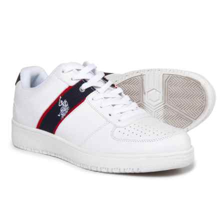 U.S. Polo Assn. Jet Sneakers - Vegan Leather (For Men) in White - Closeouts