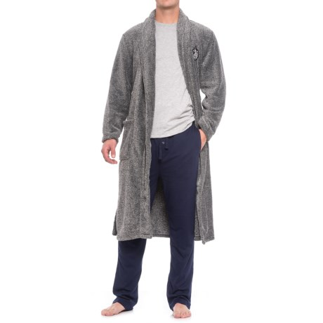 Image of U.S. Polo Assn. Marl Plush Robe - Long Sleeve (For Men and Women)