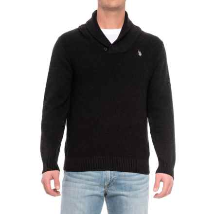 U.S. Polo Assn. Shawl-Collar Sweater (For Men) in Black - Closeouts