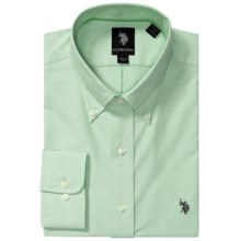 U.S. Polo Assn. Solid Oxford Dress Shirt - Long Sleeve (For Men) in Green - Closeouts