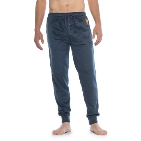 U.S. Polo Assn. Solid Silky Fleece Joggers (For Men) in Maritime Blue