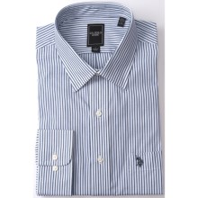 U.S. Polo Assn. Stripe Dress Shirt - Point Collar, Long Sleeve (For Men) in Navy/White - Closeouts
