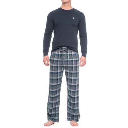 U.S. Polo Assn. Thermal Pajamas - Long Sleeve (For Men) in Navy Blazer - Closeouts