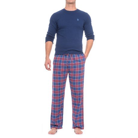 USPA Thermal Pajamas - Long Sleeve (For Men) in Blue/Blue