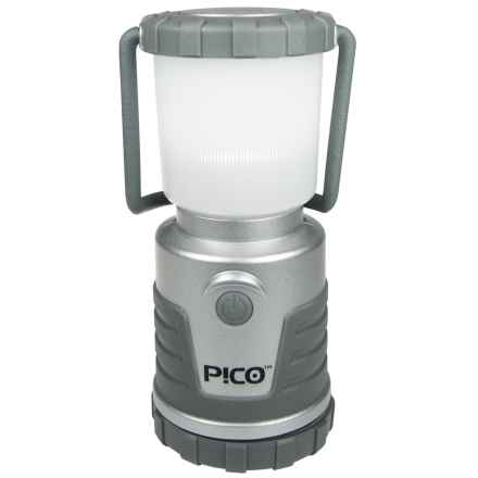 UST Pico Lantern - 120 Lumens in Silver W/Frosted Globe - Closeouts