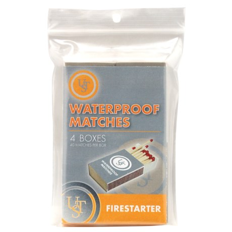 UST Waterproof Matches - 4-Pack in Gray