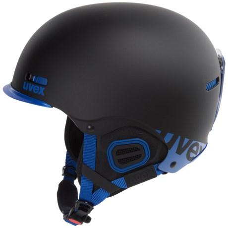 uvex Hlmt 5 Core Ski Helmet in Black/Cobalt Mat