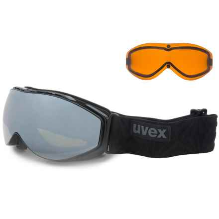 uvex Hypersonic CX Ski Goggles - Extra Lens in Black/Light Mirror Silver - Closeouts