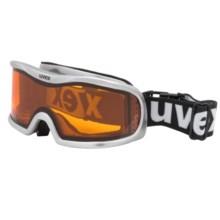 Uvex Optic 1 Snowsport Goggles in Aluminum Silver/Goldlite - Closeouts