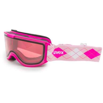 uvex Skyper STIMU Ski Goggles (For Women) in Pink/Glow Pink - Closeouts