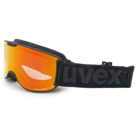 uvex Skyper VFM Variomatic Ski Goggles (For Women) in Black Matte/Red Mirror - Closeouts