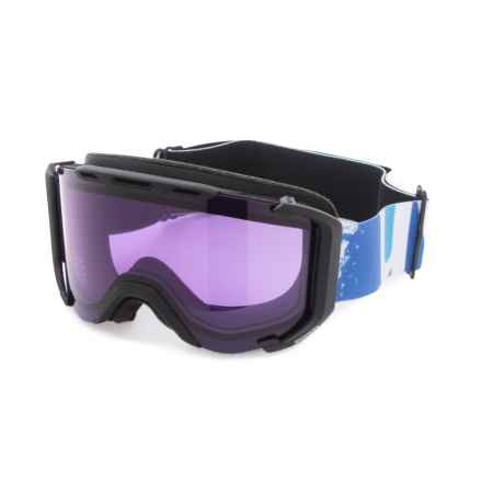 uvex Snowstrike Stimu Lens Ski Goggles in Black Matte/Psycho - Closeouts