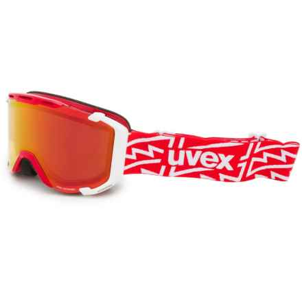 uvex Snowstrike VFM Variomatic Ski Goggles in Red/White/Red - Closeouts