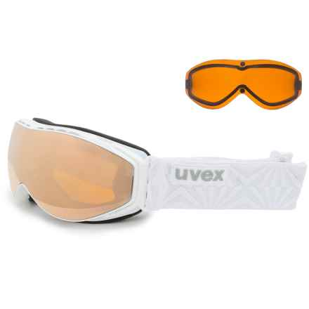 Uvex uvex Hypersonic CX Ski Goggles - Extra Lens in White/Light Mirror Gold - Closeouts