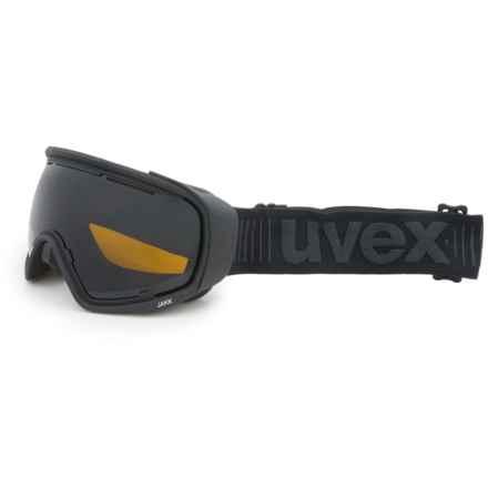 Uvex uvex JAKK Sphere Ski Goggles in Pitch Black Matte/Black Mirror - Closeouts