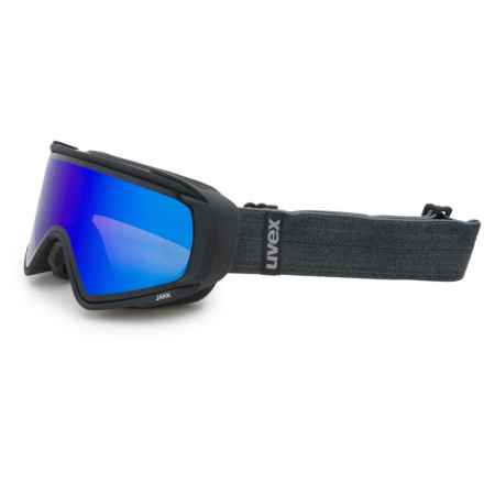 Uvex uvex JAKK TO Ski Goggles in Black Matte/Lite Mirror Blue - Closeouts