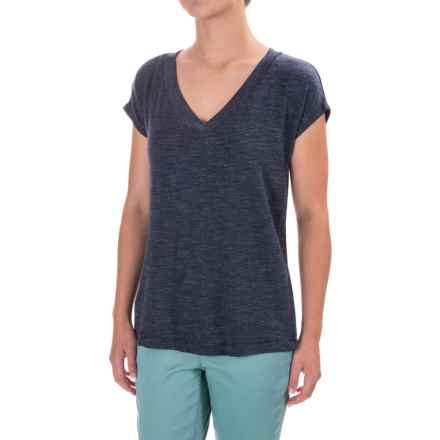 V-Neck Dolman Shirt - Rayon, Short Sleeve (For Women) in Blue - Closeouts