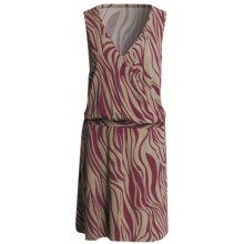 V-Neck Dress - Sleeveless (For Women) in Wine Zebra Print - 2nds