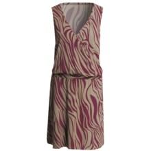 V-Neck Dress - Sleeveless (For Women) in Wine Zebra Print - 2nds